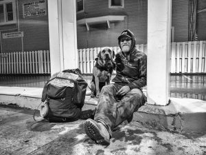 Craig and Cujo on the streets of the #ROC